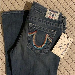 True Religion Bobby Rainbow Jean Size 28